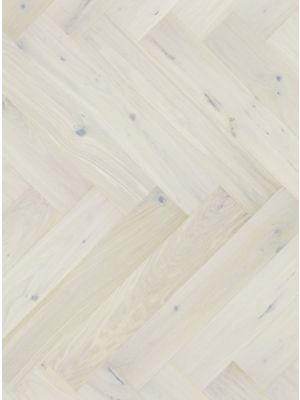 Saga Herringbone white fiskebeinsparkett